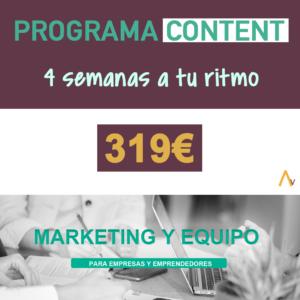 Programa Content Marketing y Equipo
